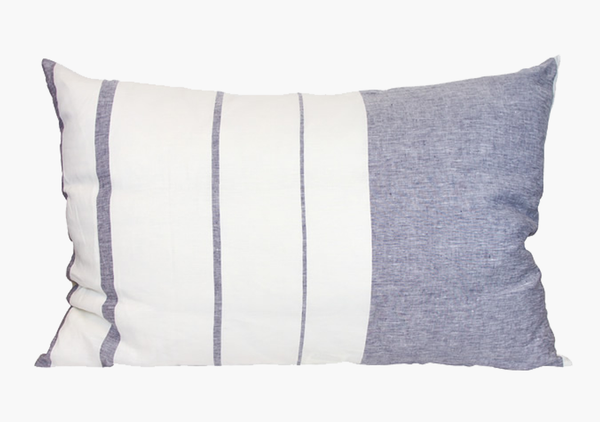 Majorca Vieja Midnight Blue Headboard Cushion | Hedgehouse