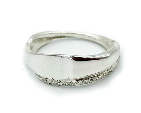 Greek Ring - Sterling silver ring textured silver ring handmade in Greece