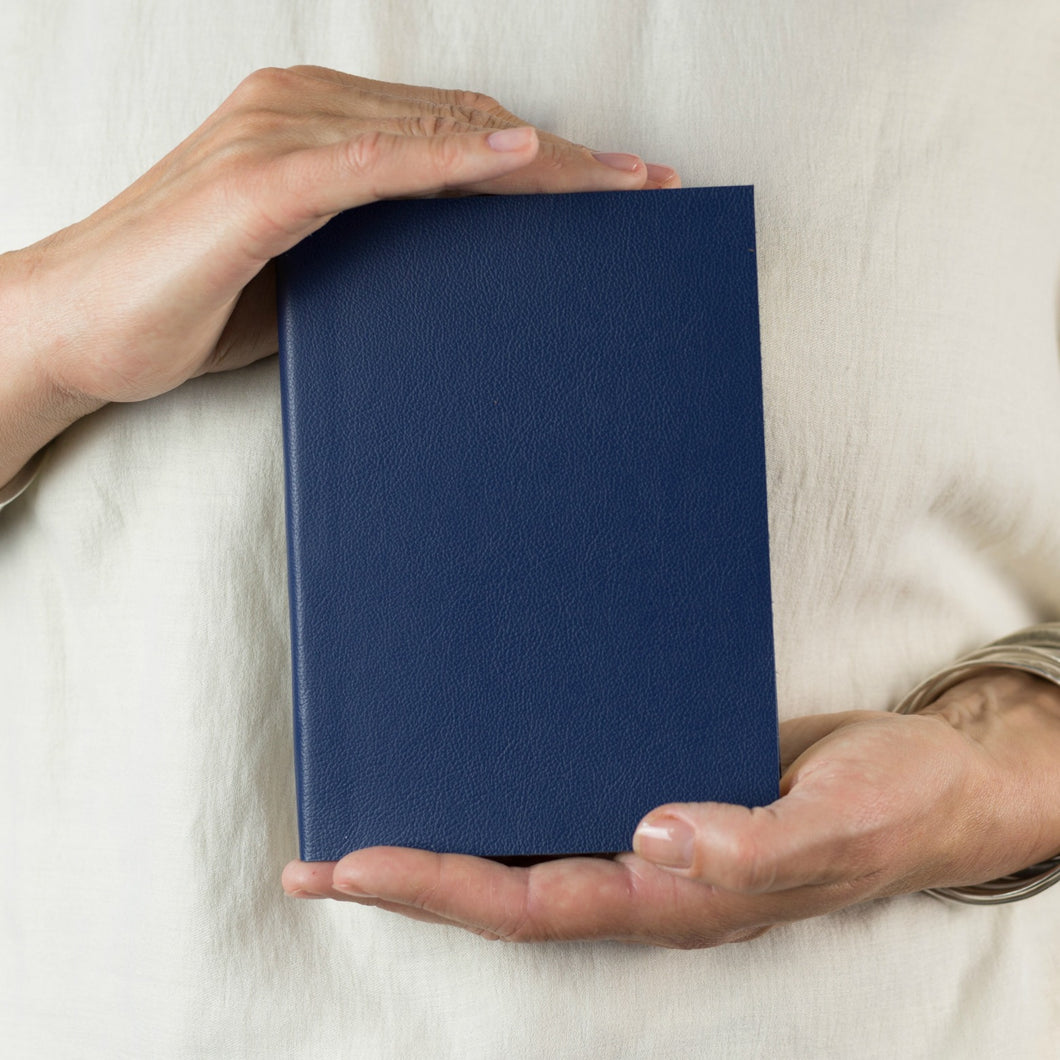 Custom leather notebook - navy leather notebook - hand made - make your own - Hope House Press