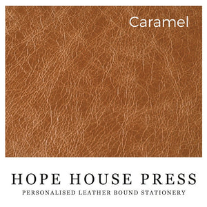 Pointing Hand Notebook - personalised leather notebook / journal by Hope House Press Notebooks / Journals- Hope House Press