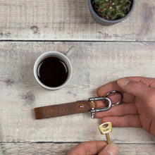 Personalised leather keyring - perfect for Dads, brothers and stocking fillers - Hope House Press