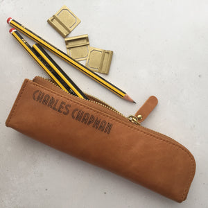 Leather pencil case with personalisation - Hope House Press