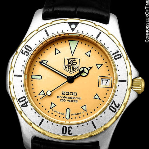 Tag Heuer Professional 2000 Mens Diver Watch, 974.006 - Stainless Steel and 18K Gold Plated