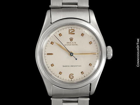 1952 Rolex Oyster Royal Vintage Mens Unisex Uncommon Ref. 6144 Watch - Stainless Steel
