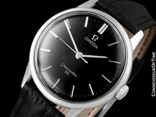 1963 Omega Seamaster 30 Vintage Mens Handwound Watch, Larger 35mm Model - Stainless Steel