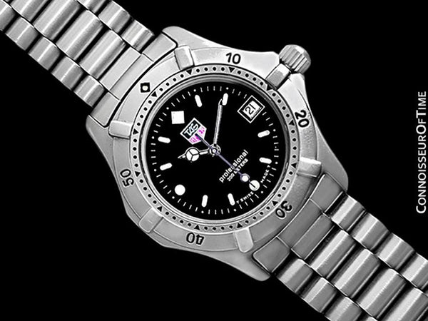 TAG Heuer Professional 2000 Mens Midsize Diver Watch, 962.013R- Stainless Steel