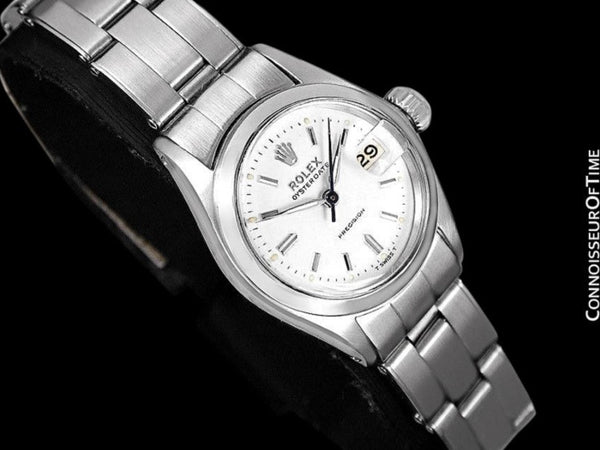 1960 Rolex Oysterdate Precision Ladies Vintage Watch with Date - Stainless Steel