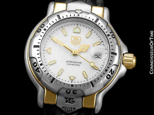 Tag Heuer Professional 6000 Ladies Divers Stainless Steel & 18K Gold Plated Watch - WH1351 K1