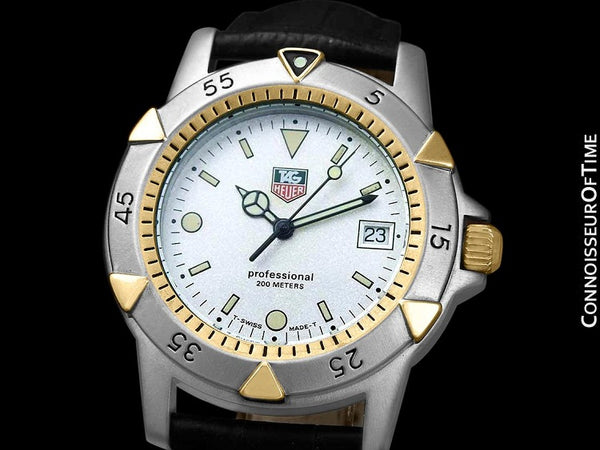 Tag Heuer Professional 1500 Mens Divers Granite Dial Watch - Stainless Steel & 18K Gold Plated