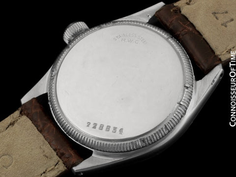 "1942 Rolex Speedking Vintage Mens Midsize ""Boys"" WWII Oyster Watch - Stainless Steel"