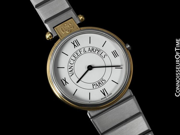 Van Cleef & Arpels VCA La Collection No.22 Mens Midsize Unisex Watch - Stainless Steel & 18K Gold