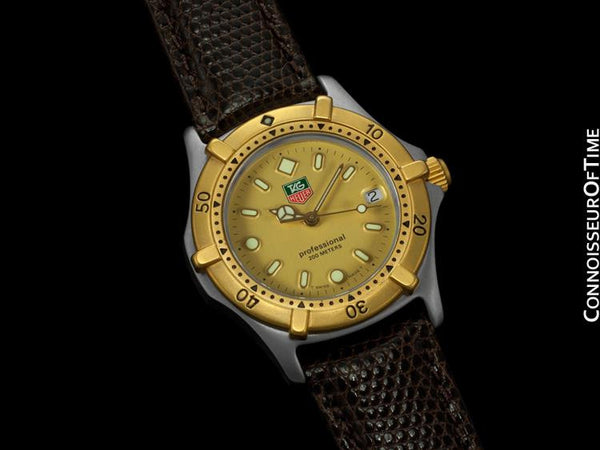 Tag Heuer Professional 2000 Mens Midsize Diver Watch - Stainless Steel & 18K Gold Plated
