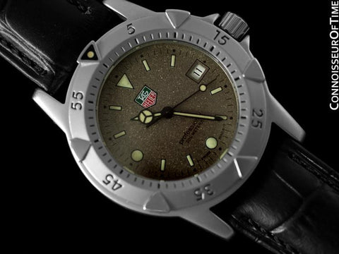 Tag Heuer Professional 1500 Mens Diver Granite Dial Watch - Stainless Steel - WD1211-K-20