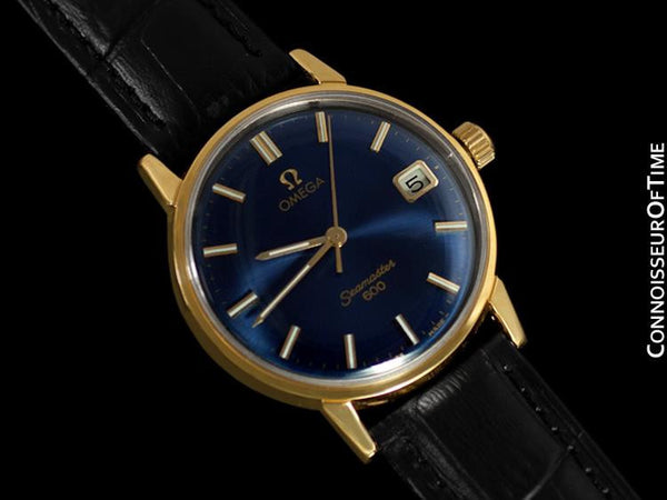 1961 Omega Seamaster Vintage Mens Handwound Watch - 18K Gold Plated & Stainless Steel