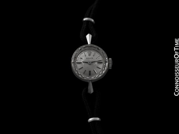 1960's Rolex Ladies Dress Watch, Silver Dial - 14K White Gold