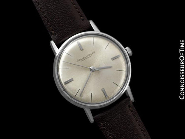 1962 IWC Vintage Mens Classic Watch, Caliber 401 - Stainless Steel