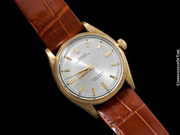 1957 Rolex Oyster Perpetual Vintage Mens Watch, Ref. 6564 - 14K Gold