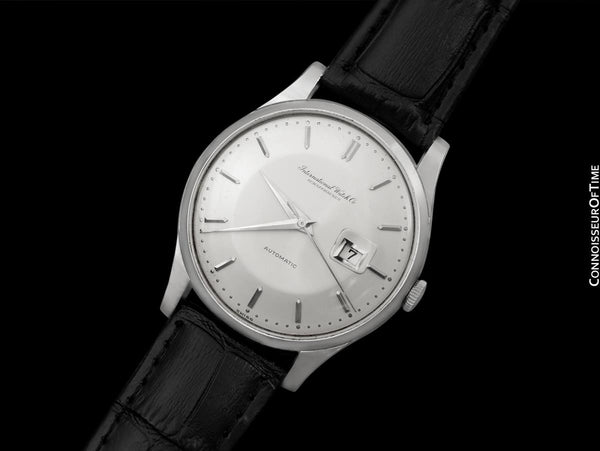 1961 IWC Vintage Mens Watch, Cal. 8531 Automatic with Date and Pie Pan Dial - Stainless Steel