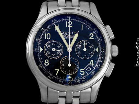 Zenith El Primero Class 4 Mens Automatic Chronograph, Stainless Steel - 02.0500.400