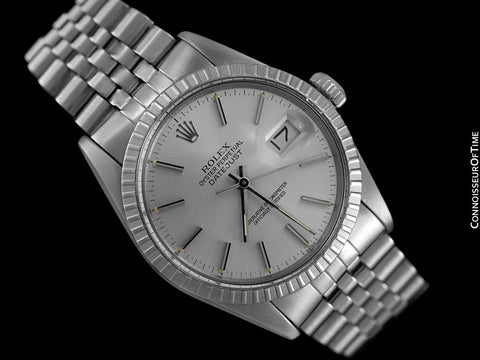 Rolex Datejust Mens Quick-Setting Watch with Silver Dial - Stainless Steel