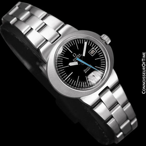 1960's Omega Dynamic Vintage Ladies Bracelet Watch with Black Dial - Stainless Steel
