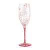 Blushing Snowflakes Prosecco Glass, 8 oz.