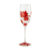 Poinsettias in the Snow Wine Glass, 8 oz.