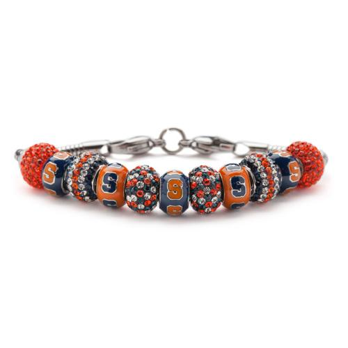 Syracuse University Go Orange Charm Bracelet