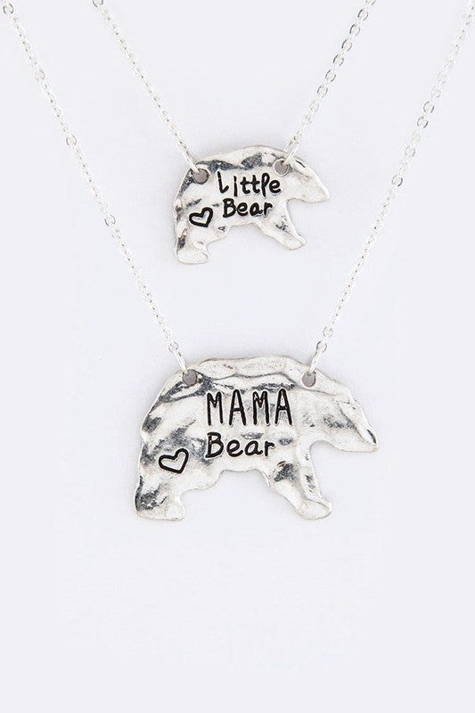 Mama Bear Necklace Set