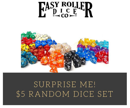 Surprise Me Pack - One Random 7 Piece Set of Plastic Dice