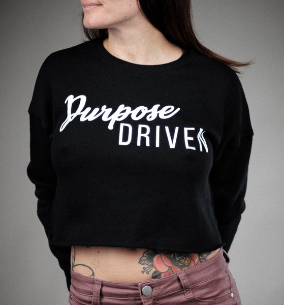 Purpose Driven Cropped Sweater