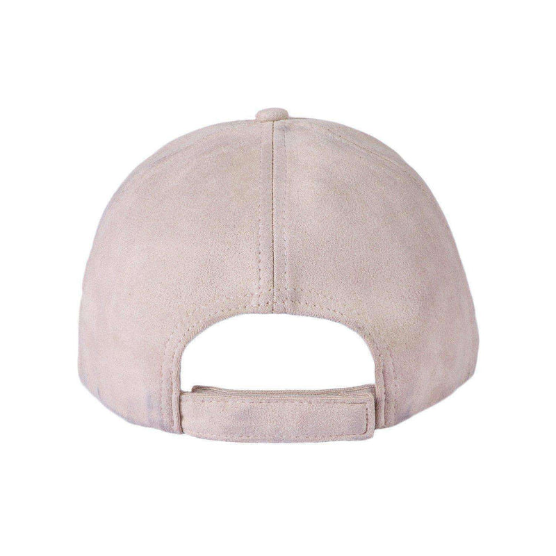 SUEDE TRUCKER CAP - CREAM