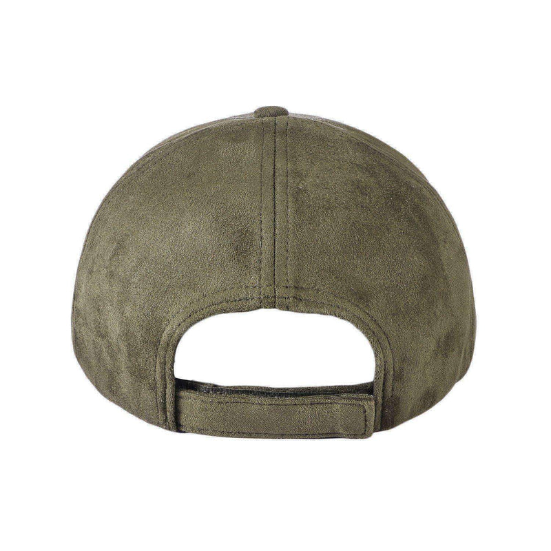 SUEDE TRUCKER CAP - MILITARY GREEN