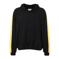 TERRY RETRO HOODIE - BLACK / YELLOW
