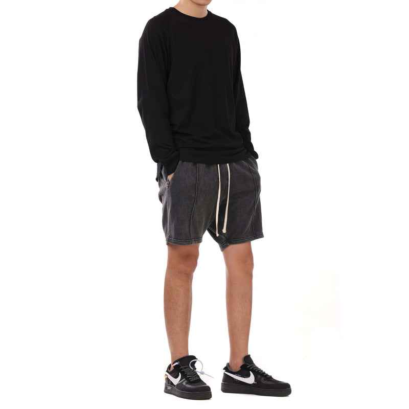 WASHED SHORTS - GREY