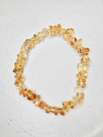 Citrine polished chip bracelet
