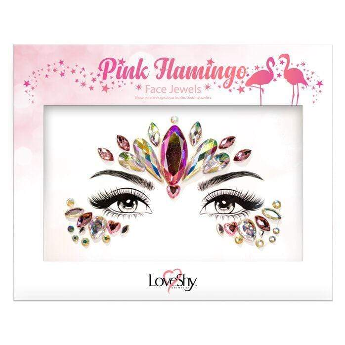Festival Face Jewels - Pink Flamingo