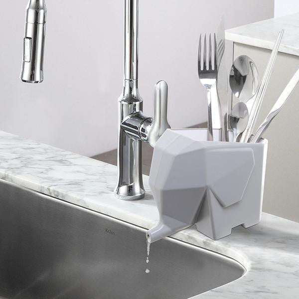 Elephant Cutlery Drainer Box - contemporary home