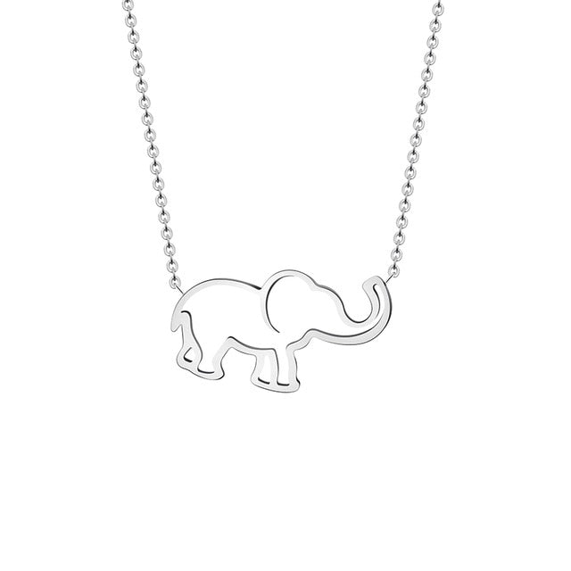 Origami Elephant Pendant Necklace