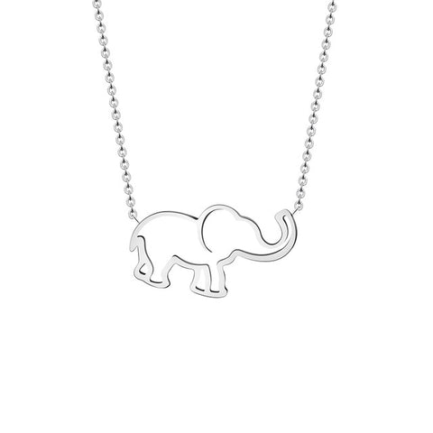 Image of Origami Elephant Pendant Necklace