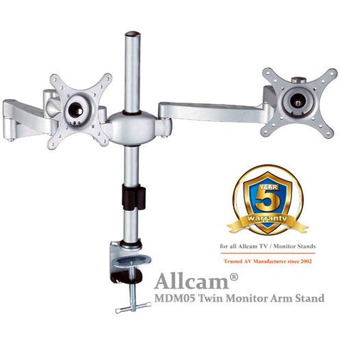 MDM05 Multi Screen Desk Mount Bracket: Twin LCD Monitor ver.