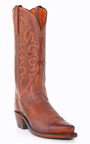Women's Lucchese Jersey Calf Boots Tan Burn #N9056-5/4