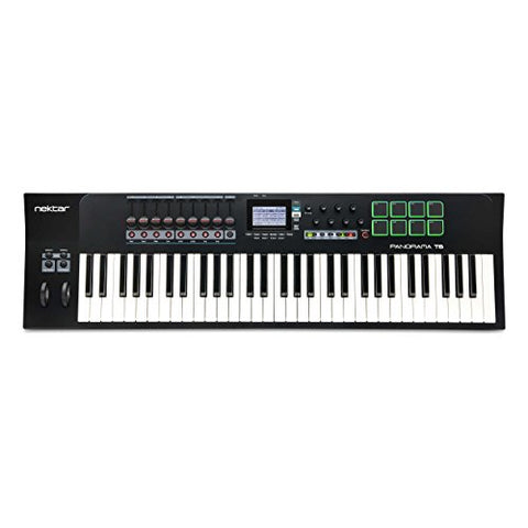 Nektar Panorama T6 61-Key Advanced MIDI Daw Keyboard Controller