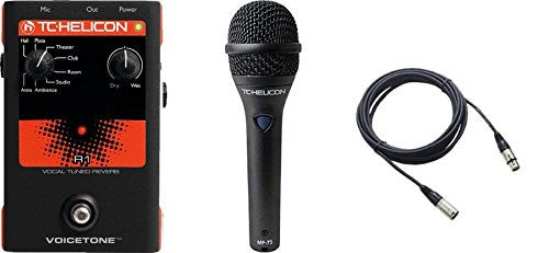 TC Helicon VoiceTone R1 and TC MP75 Mic & Cable Bundle