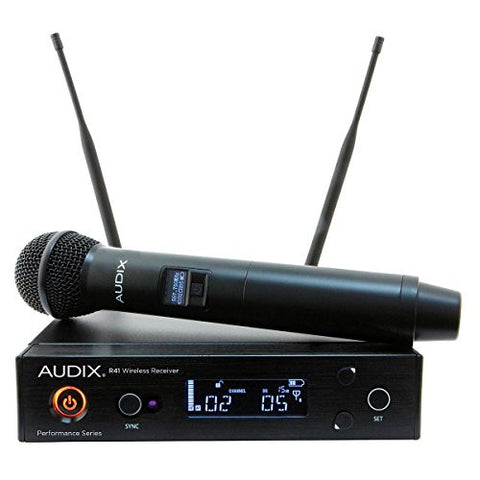 Audix AP41 OM2 Wireless System Microphone R41 Diversity Receiver with H60/OM2 Handheld Transmitter, 522-554