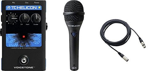 TC Helicon VoiceTone C1 and TC MP75 Mic & Cable Bundle