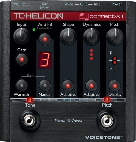 TC Helicon VoiceTone Correct XT - Vocal Effects Processor and TC MP75 Mic & Cable Bundle