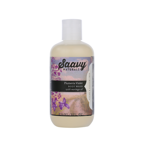 Natural and Organic Body Wash - Plumeria Violet