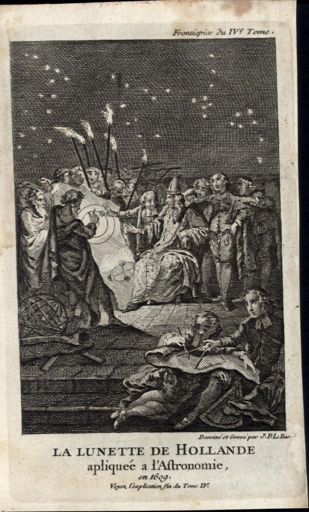 Pagan ceremony torches solstice astronomy astrology 1739 old antique print