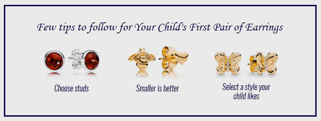 Tips for your child's first pair of earrings